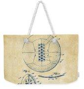 1928 Soccer Ball Lacing Patent Artwork - Vintage Weekender Tote Bag