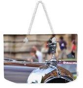 1928 Vintage Chrysler 72 Series - Hood Ornament Weekender Tote Bag
