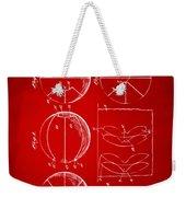 1929 Basketball Patent Artwork - Red Weekender Tote Bag