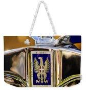 1929 Bianchi S8 Graber Cabriolet Hood Ornament And Emblem Weekender Tote Bag