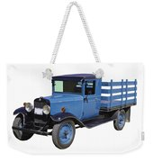1929 Blue Chevy Truck 1 Ton Stake Body Weekender Tote Bag