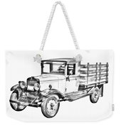 1929 Chevy Truck 1 Ton Stake Body Drawing Weekender Tote Bag