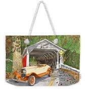 1929 Chrysler 65 Covered Bridge Weekender Tote Bag