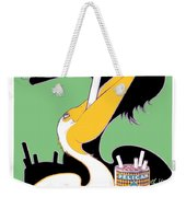 1930 - Pelican Cigarettes French Advertisement Poster - Color Weekender Tote Bag