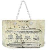 1930 Ship's Hull Patent Drawing Weekender Tote Bag