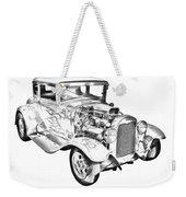 1930 Model A Custom Hot Rod Illustration Weekender Tote Bag