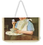 1930 - Post Grape Nuts Cereal Advertisement - Norman Rockwell - Color Weekender Tote Bag