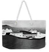 1930s 1940s Pan American Clipper Flying Weekender Tote Bag by Vintage Images