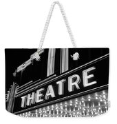 1930s 1940s Theater Marquee Theatre Weekender Tote Bag