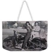1930's Indian Motorcycle Mama Weekender Tote Bag