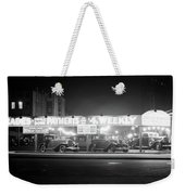 1930s New And Used Car Lot At Night Weekender Tote Bag