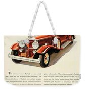 1931 - Packard - Advertisement - Color Weekender Tote Bag