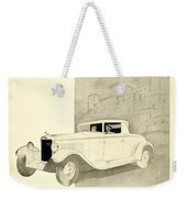1931 - Unic 8 French Automobile Advertisement Weekender Tote Bag