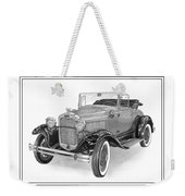 1931 Ford Convertible Weekender Tote Bag