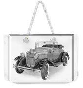 1931 Ford Convertible Weekender Tote Bag by Jack Pumphrey