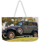 1931 Ford Sedan On Hill At Greenfield Village In Dearborn Michigan Weekender Tote Bag
