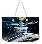 1931 Model A Ford Deluxe Roadster Hood Ornament Weekender Tote Bag