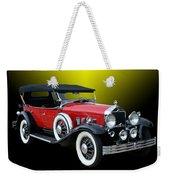 1931 Willys Knight Plaid Side Weekender Tote Bag
