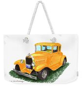 1931 Yellow Ford Coupe Weekender Tote Bag by Jack Pumphrey