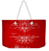 1932 Amphibian Aircraft Patent Red Weekender Tote Bag