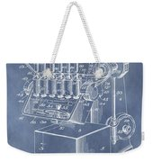 1932 Machine Patent Weekender Tote Bag