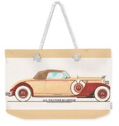 1932 Packard All Weather Roadster By Dietrich Concept Weekender Tote Bag