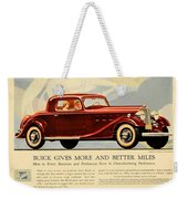 1933 - Buick Coupe Advertisement - Color Weekender Tote Bag