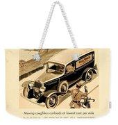 1933 - Chevrolet Commercial Automobile Advertisement - Old Gold Cigarettes - Color Weekender Tote Bag