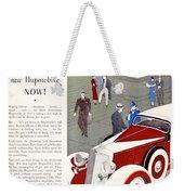 1933 - Hupmobile Sedan Automobile Advertisement - Color Weekender Tote Bag