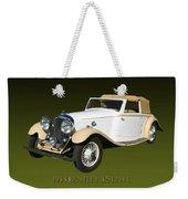 1933 Bentley 3  5  Liter Drop Head Coupe Weekender Tote Bag