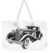 Cadillac Victoria V 16 Convertible Weekender Tote Bag