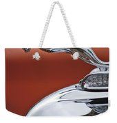 1933 Chrysler Cl Imperial Hood Ornament Weekender Tote Bag