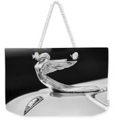 1933 Plymouth Hood Ornament -0121bw Weekender Tote Bag