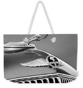 1933 Pontiac Hood Ornament - Emblem -0385bw Weekender Tote Bag