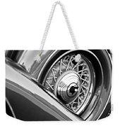 1933 Pontiac Spare Tire -0431bw Weekender Tote Bag