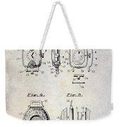 1933 Watch Case Patent Drawing  Weekender Tote Bag