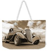 1934 Ford Coupe In Sepia Weekender Tote Bag