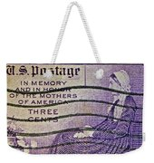 1934 Mothers Of America Three-cent Stamp Weekender Tote Bag