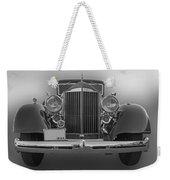 1934 Packard Black And White Weekender Tote Bag