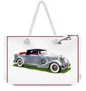 1934 Packard Twelve 1107 Coupe Weekender Tote Bag