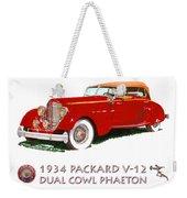 1934 Packard V-12 Dual Cowl Phaeton Weekender Tote Bag