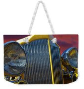 1934 Packard With Posterized Edge Texture Weekender Tote Bag