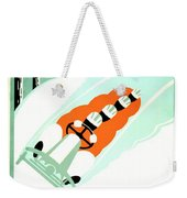1935 - Lake Placid - New York - Travel Poster - Color Weekender Tote Bag