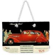 1935 - Nash Aeroform Automobile Advertisement - Color Weekender Tote Bag