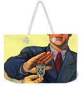 1935 - Soviet Union Anti Alcohol Propaganda Poster - Color Weekender Tote Bag