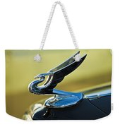 1935 Chevrolet Sedan Hood Ornament 2 Weekender Tote Bag
