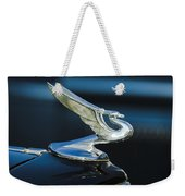 1935 Chevrolet Sedan Hood Ornament Weekender Tote Bag