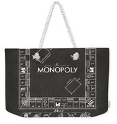 1935 Monopoly Game Board Patent Artwork - Gray Weekender Tote Bag by Nikki Marie Smith