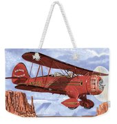 Monument Valley Bi-plane Weekender Tote Bag