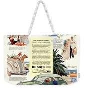 1936 - De Soto Airflow IIi Automobile Advertisement - Color Weekender Tote Bag